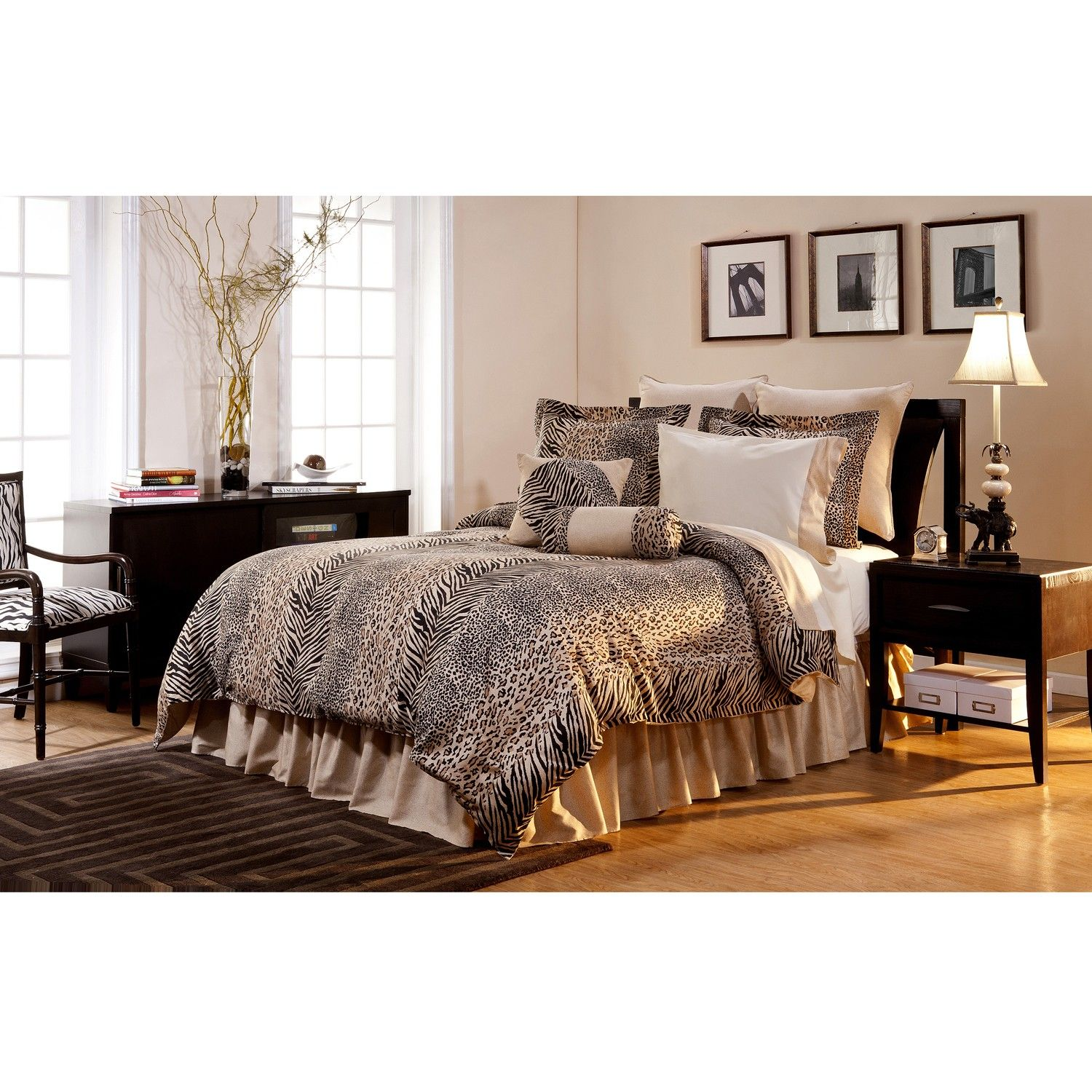 Urban Safari 3 piece King size Duvet Cover Set