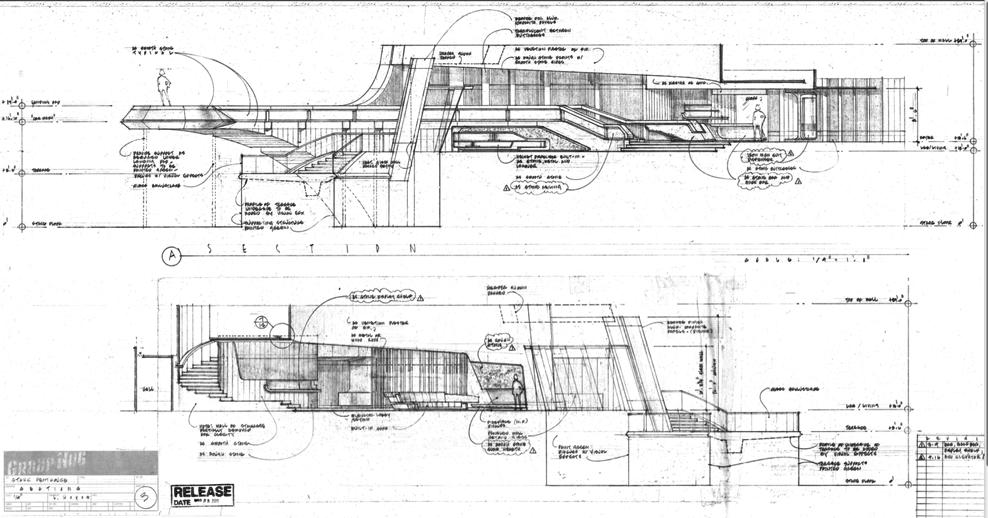 Architectural Drawing Set set designs, or rather drawings of set designs. architectural nerd