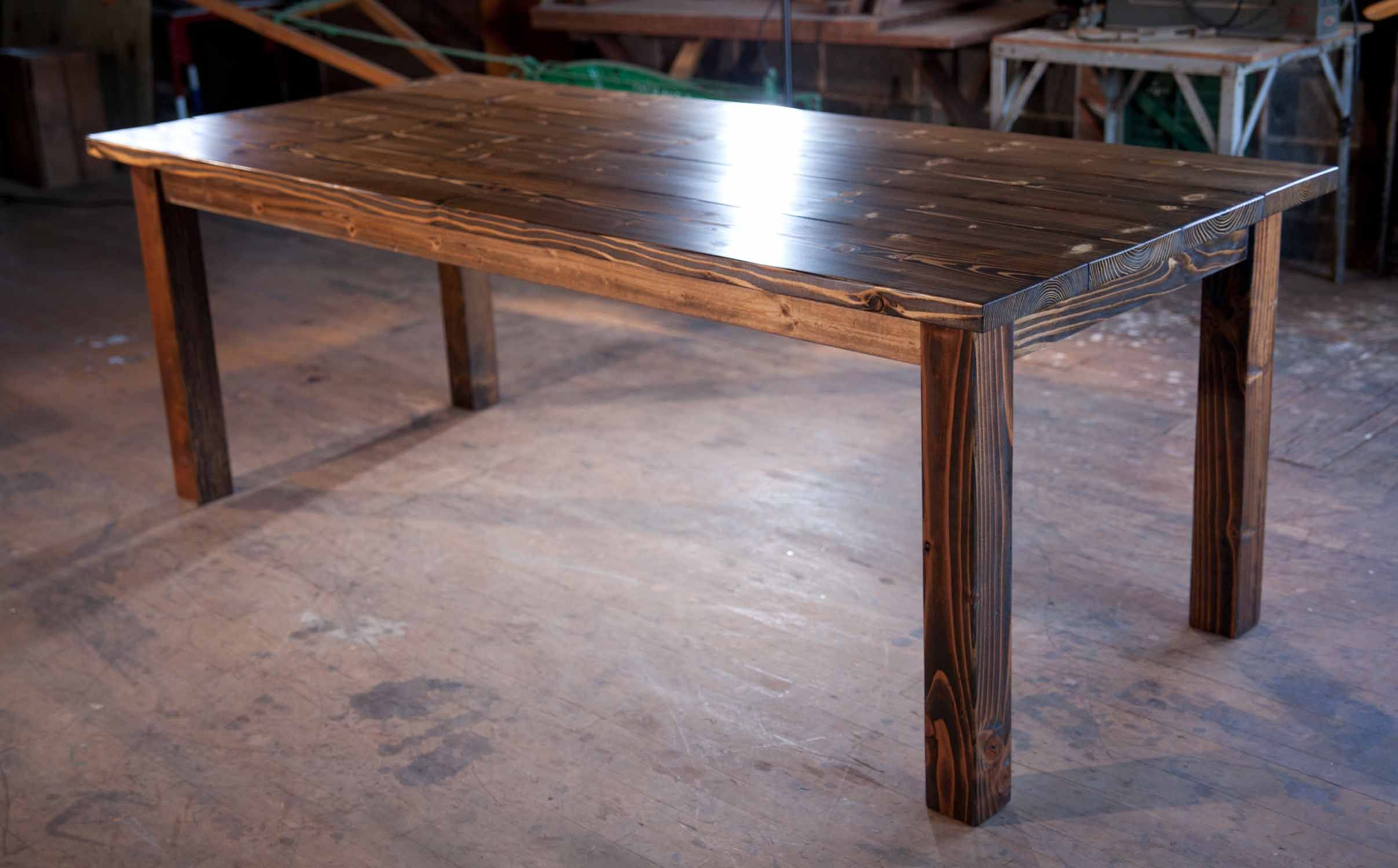 Emmor Works Home Dining Table Rustic Kitchen Tables Farmhouse