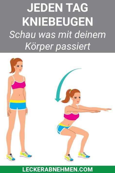 28 Tage Kniebeugen Challenge - Straffe Beine durch Squats #fitnesschallenges