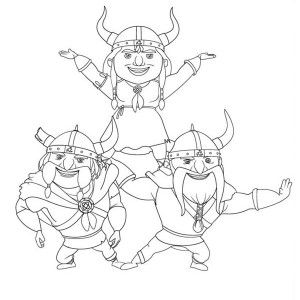 Mike The Knight Vikings Formation In Mike The Knight Coloring Page