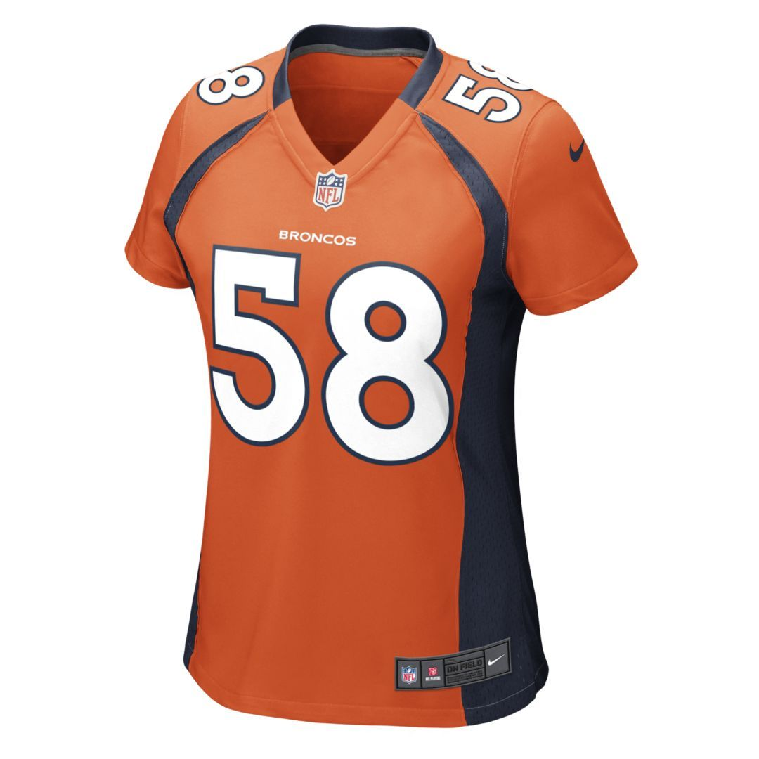 1744e0a4b NFL Denver Broncos (Von Miller) Women s Football Home Game Jersey Size S  (Brilliant Orange)