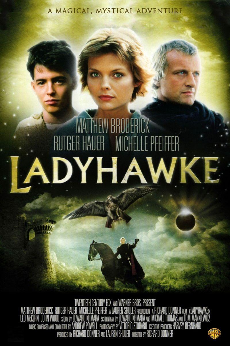 Ladyhawke A Mulher Falcao 1985 Com Imagens Cartaz De Filme