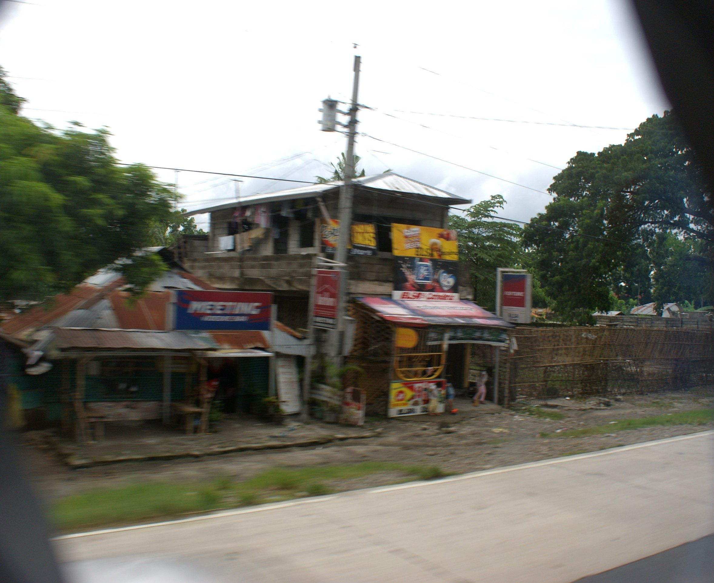 Village Shop on coach journey from Manila to Bangued