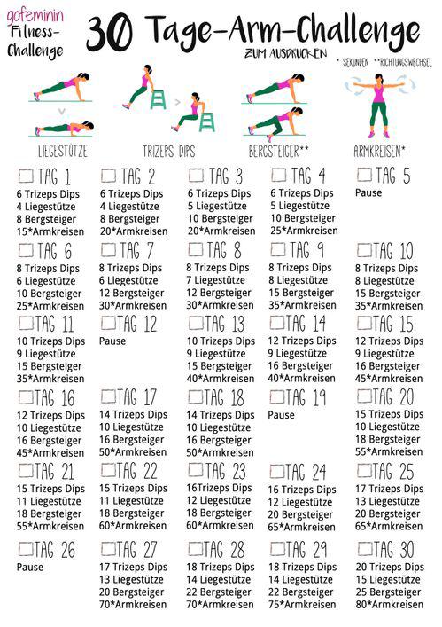 30 Tage Arm-Challenge: Sag den schlaffen Winkearmen den Kampf an!