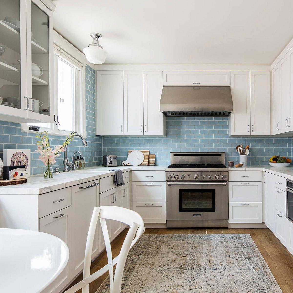 75 Blue Backsplash Ideas Navy Aqua Royal Or Coastal Blue Design Blue Backsplash Kitchen Blue Backsplash White Shaker Kitchen Coastal kitchen backsplash ideas