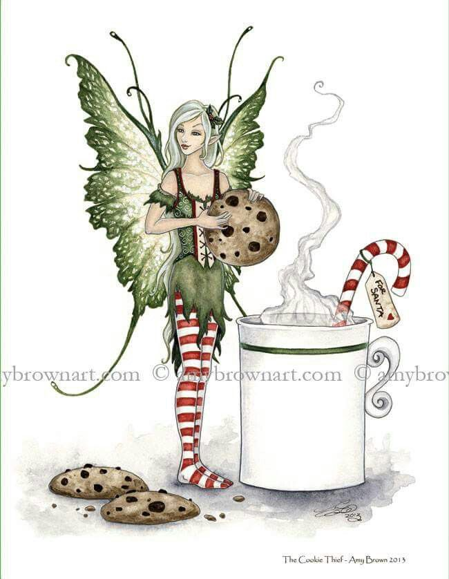 The cookie thief | Amy brown fairies, Fairy art, Amy brown