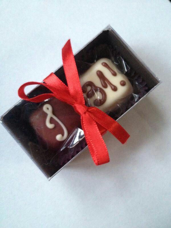 Lembranças. Chocolates.