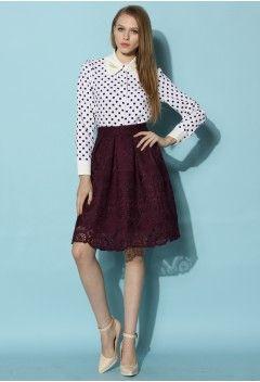 Purple Dream Full Lace Skirt - New Arrivals - Retro, Indie and Unique Fashion