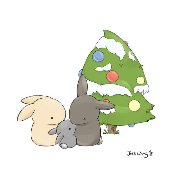 Christmas Art Print by Jess Wong   Society6