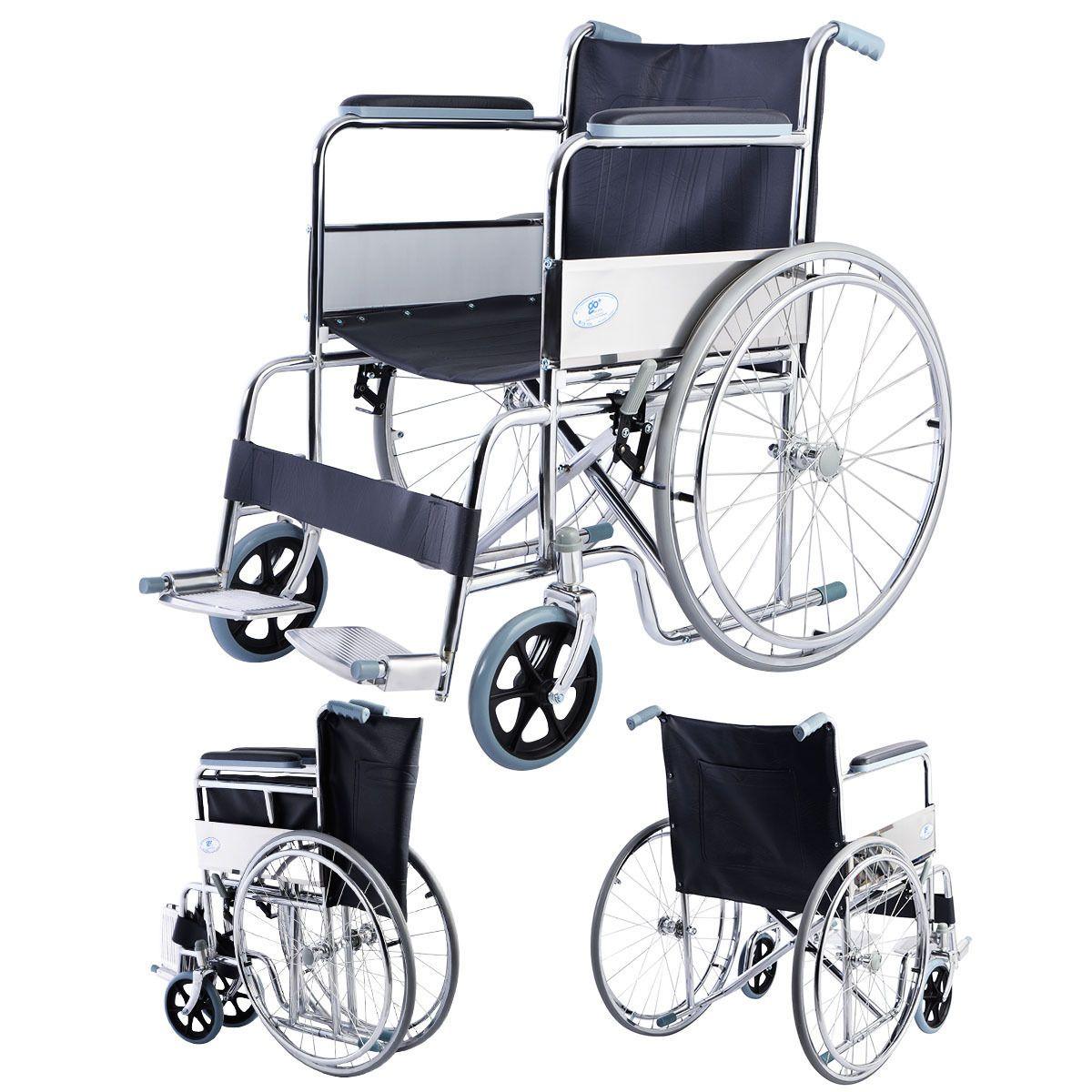 20 Days Presell 24 Lightweight Foldable Folding Wheelchair W Swingaway Footrest Manual Wheelchair Lightweight Folding Wheelchair Wheelchair