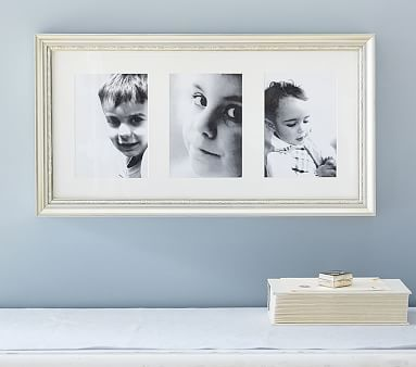 Silver Leaf Triptych Frame Kid Room Decor Baby Picture