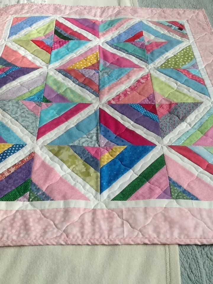 quilts made from strips | Baby quilt made with scrap strips