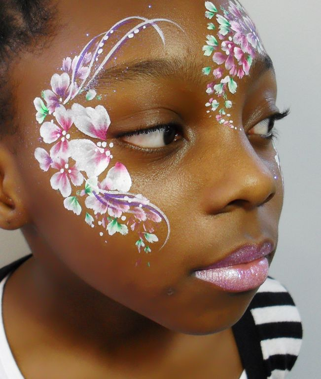 flower facepainting - Google Search | FacePainting | Face ...