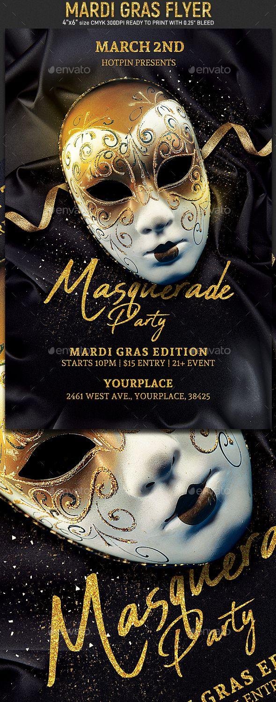 Masquerade Mardi Gras Flyer Event flyer template