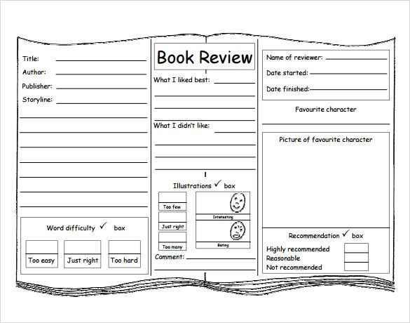 Sample Book Review Template   Free Documents In Pdf Word