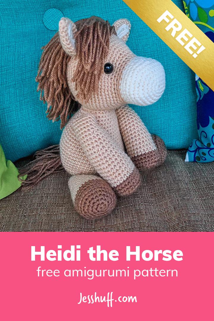 Heidi the Horse #amigurumipattern
