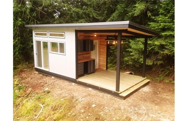 this galiano island cabin was built by westcoast outbuildings a north vancouver company that is
