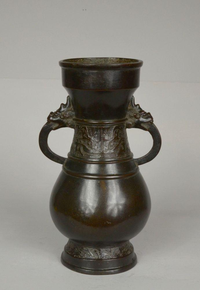 Antique Chinese Bronze Vase Ming Dynasty Culture Elements Pinterest