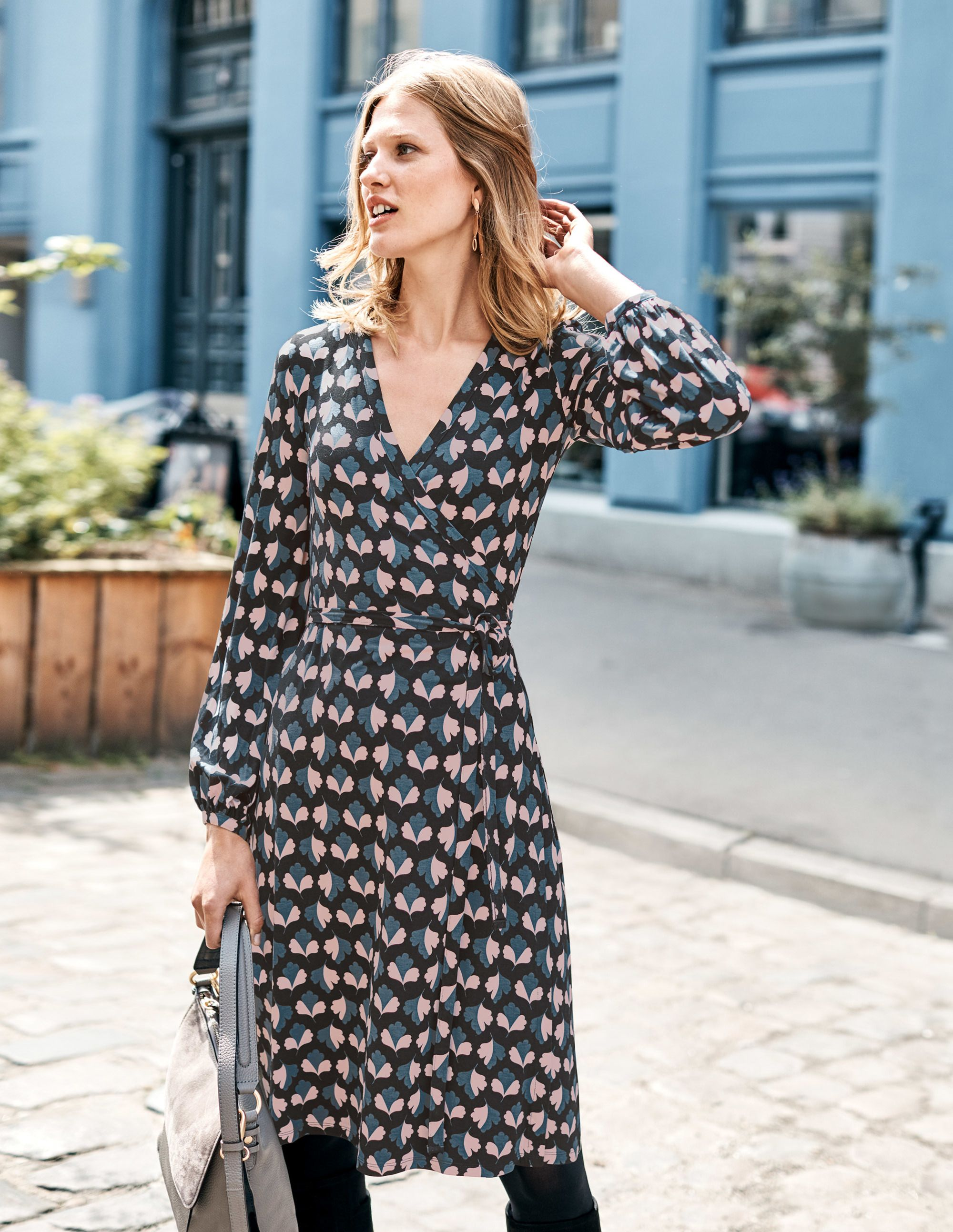 2d7d1348c403 Elodie Jersey Wrap Dress J0280 Day Dresses at Boden | clothes in 2019