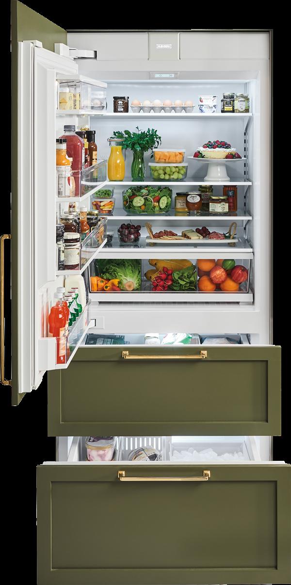Sub Zero 36 Designer Over And Under Refrigerator Freezer With Internal Dispenser And Ice Maker Panel Ready It 36ciid Refrigerator Freezer Integrated Fridge Sub Zero Appliances
