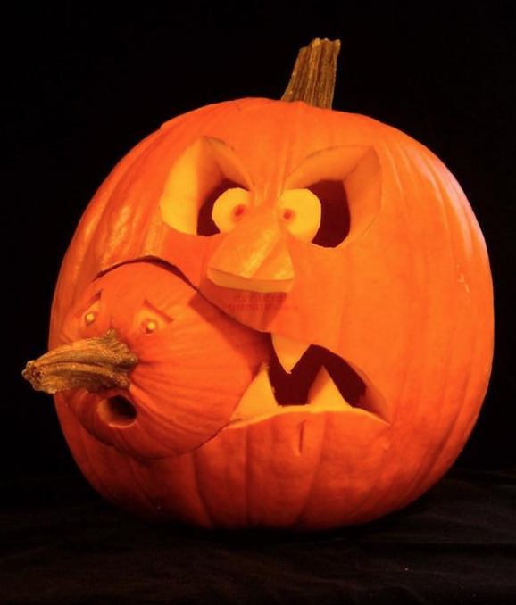 Diy Funny Carved Pumpkins And Jack O Lanterns Snappy Pixels Scary Pumpkin Carving Halloween Pumpkins Carvings Designs Halloween Pumpkins Carvings