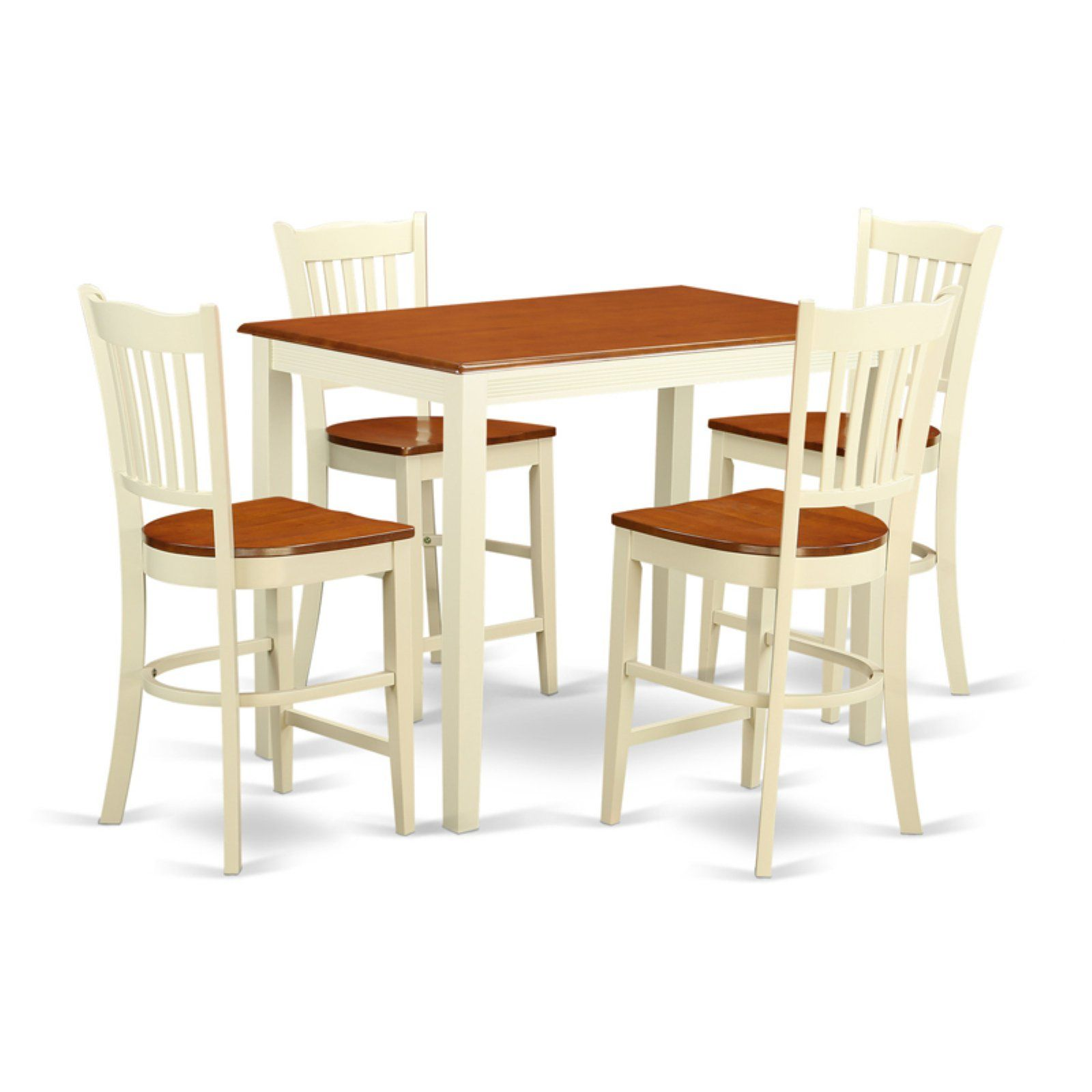 Fabulous East West Furniture Yarmouth 5 Piece Comb Back Dining Table Gmtry Best Dining Table And Chair Ideas Images Gmtryco