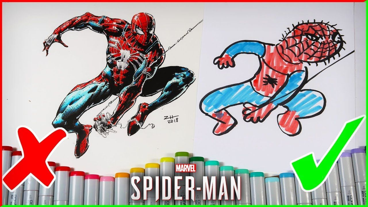3 MARKER CHALLENGE SPIDER,MAN EDITION + COPIC MARKER