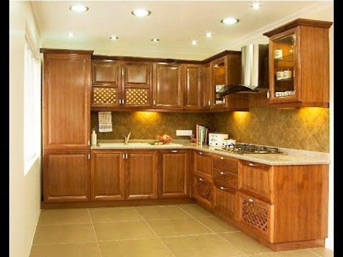 Small Kitchen Interior Design Ideas Indian Apartments Green Colours Decobizz Desain Dapur Dapur Minimalis Dapur Modern