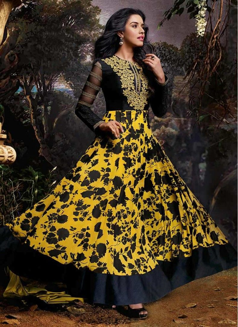 Black and yellow dress suits