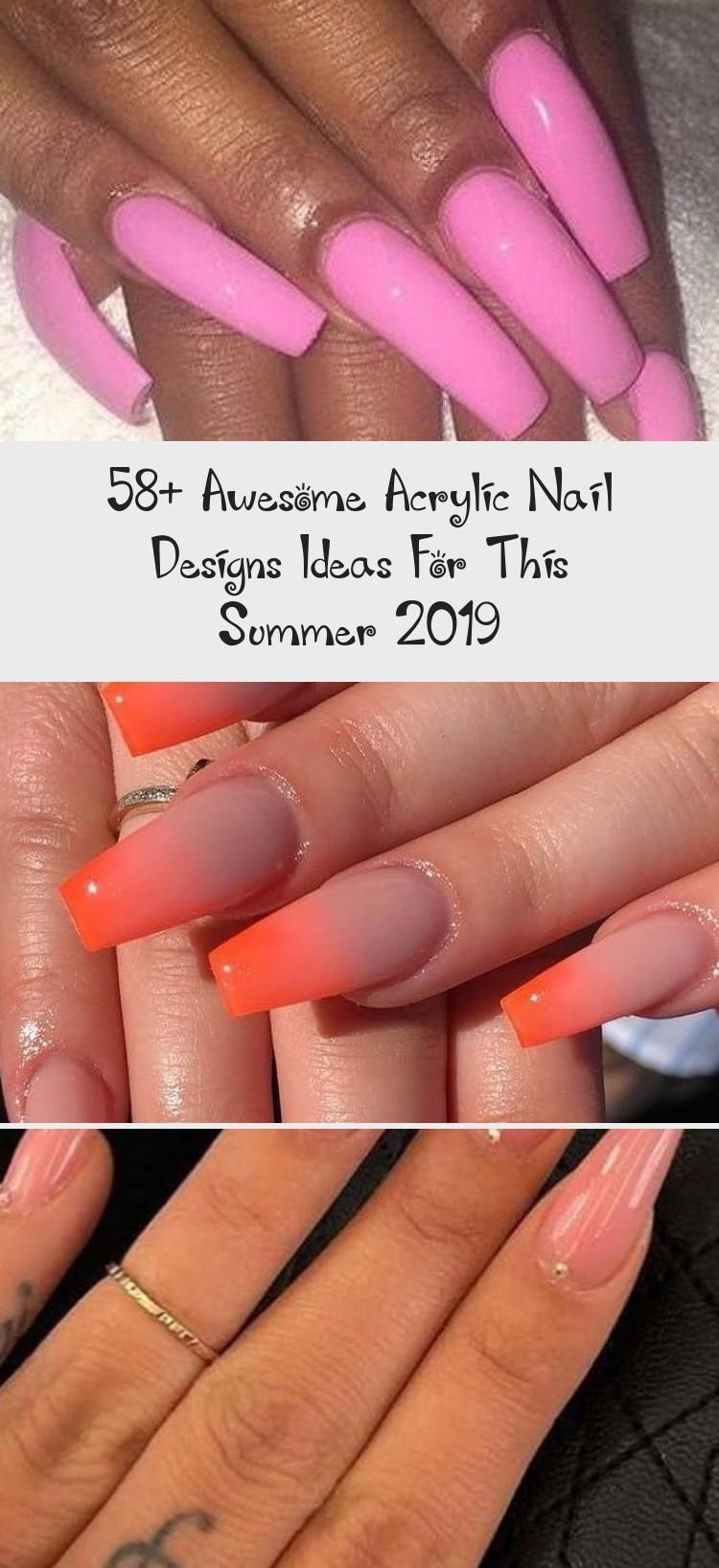 58+ Awesome Acrylic Nail Designs Ideas For This Summer 2019 - Beauty -  58+ Awesome Acrylic Nail Designs Ideas for This Summer 2019 Part 24; acrylic nails designs; acrylic - #Acrylic #Awesome #beauty #Designs #Ideas #Nail #Summer