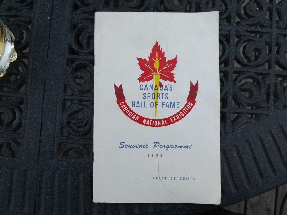 Canada Sports Hall Of Fame Inaugural Program 1955 First Year Issue Sport Hall Hall Of Fame Fame