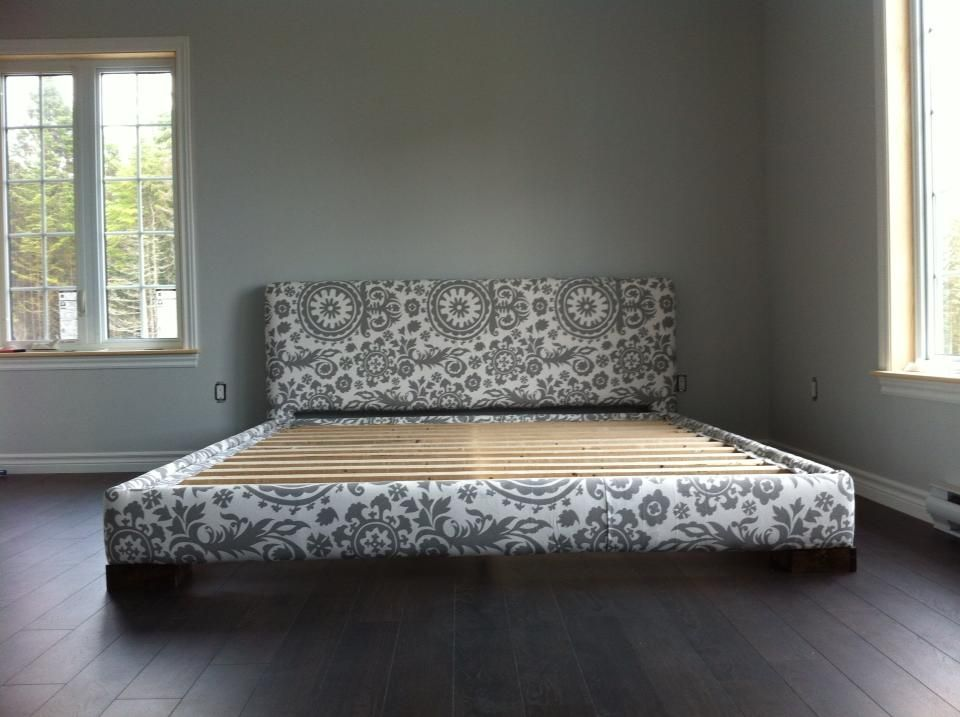 Upholstered Bed Frame King Size Do It Yourself Home Projects