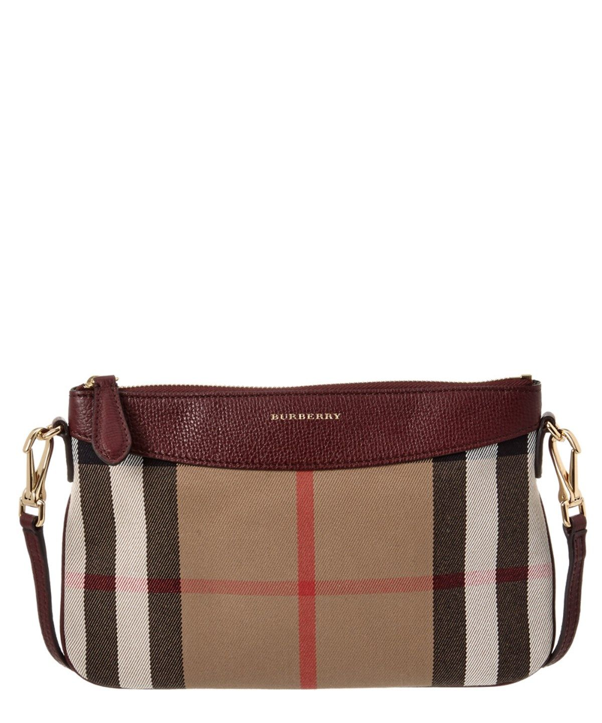 2d09608e6e4f BURBERRY BURBERRY PEYTON HORSEFERRY CHECK AND LEATHER CLUTCH BAG .  burberry   bags  canvas  leather  clutch  shoulder bags  lining  hand bags