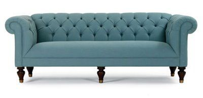 Amazing Yes Yes, Another Blue Couch. Can You Tell Thatu0027s My Favorite Color? This  Chester Couch (obviously A Chesterfield Inspired Sofa) Looks Much Less  Bulky (for ...