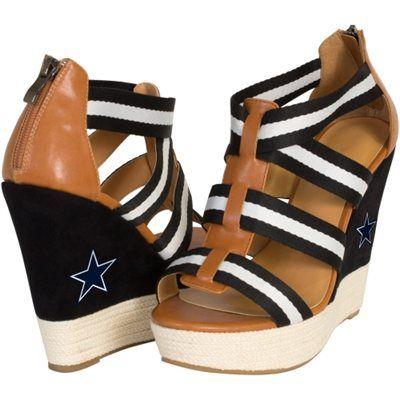 Cuce Shoes Dallas Cowboys Ladies Rookie 2 Sandals Black