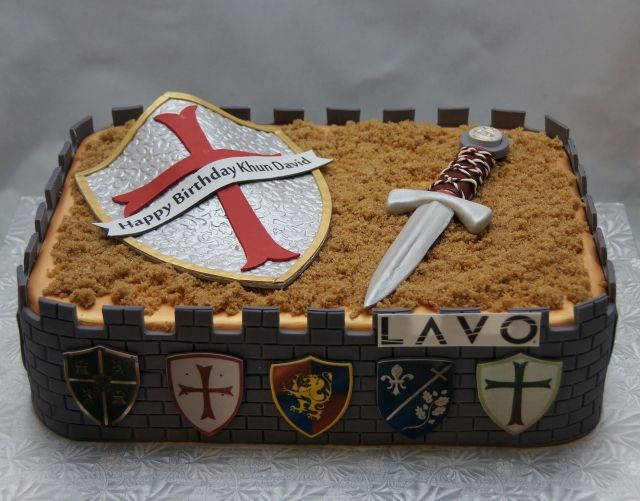 Sensational Medieval Times Birthday Cake For Lavo Nyc With Images Castle Funny Birthday Cards Online Overcheapnameinfo