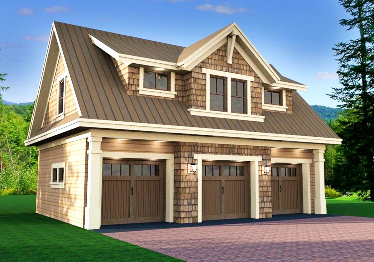 House And Garage Images | Craftsman Bungalow With Detached Garage   House  Plans, Home | Beyond | Pinterest | Garage House Plans, Garage House And  Craftsman ...