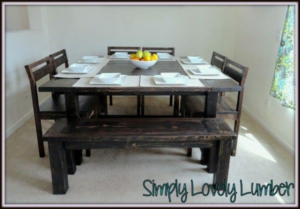 Simply Lovely Lumber Table For 4 Square Kitchen Tables Dining