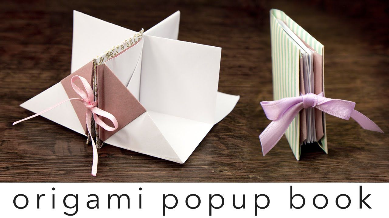 Learn How To Make An Origami Pop Up Book This Book Opens Up Into 4 Sections It Could Be A Mini House With 4 Rooms Or A Pre Book Origami Pop
