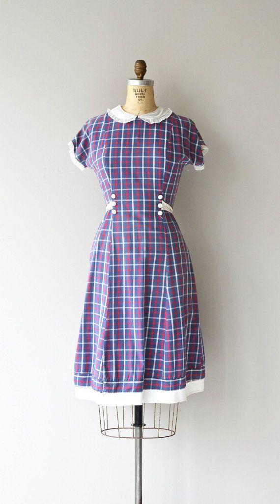 Little Effie dress | vintage 1930s dress | cotton plaid 30s dress ...