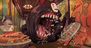 Image Result For Spirited Away No Face Eating Studio Ghibli Spirited Away Spirited Away Anime