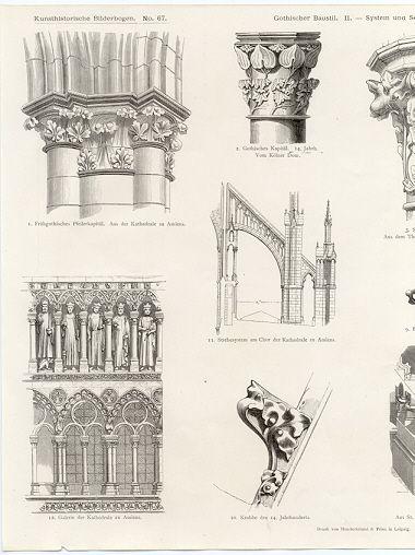 Kunst Historiche Amiense Koln Details Architecture PlanGothic