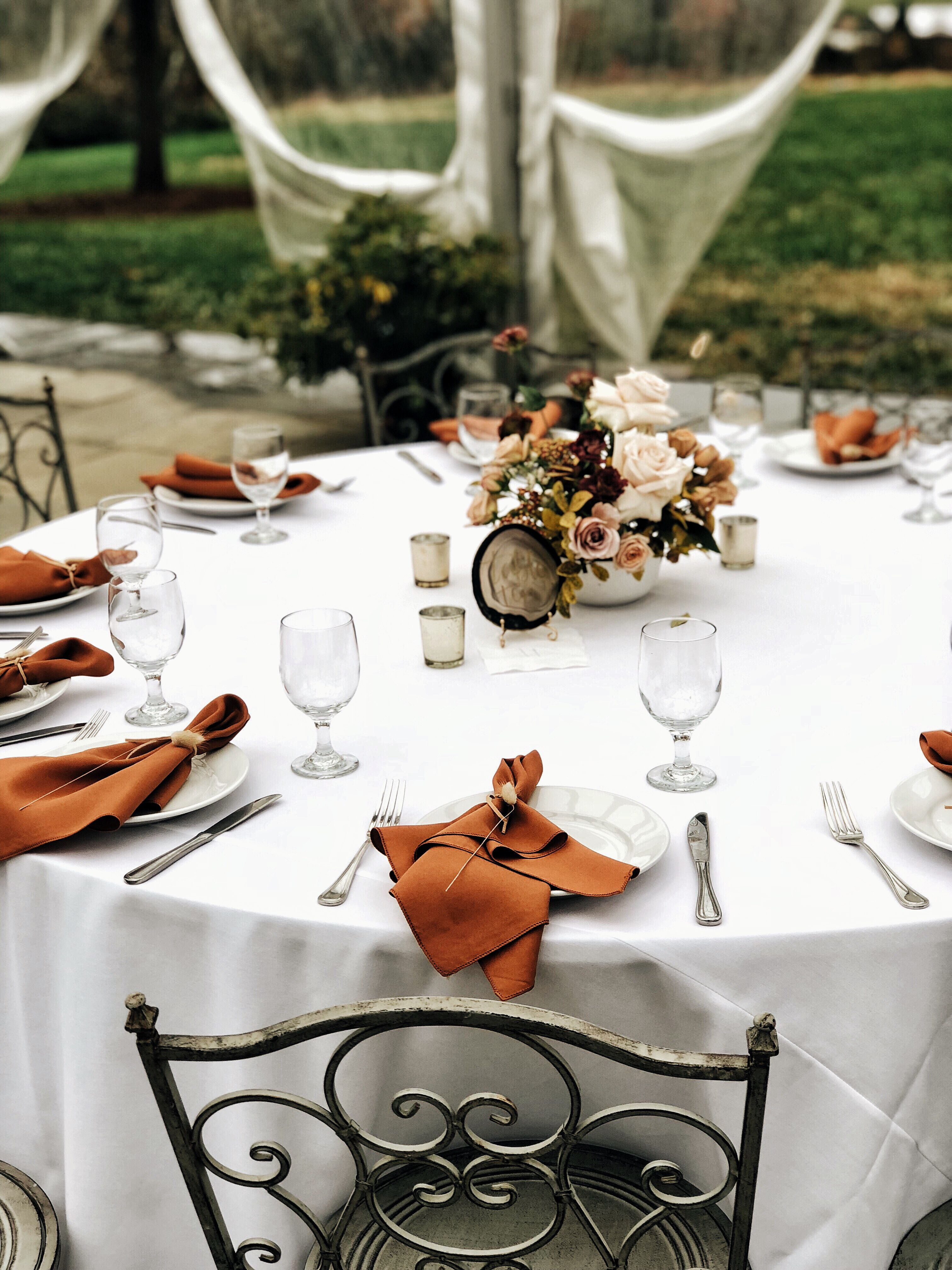 Terra Cotta Wedding Burnt Orange Weddings Fall Wedding Color Schemes Fall Wedding Tables