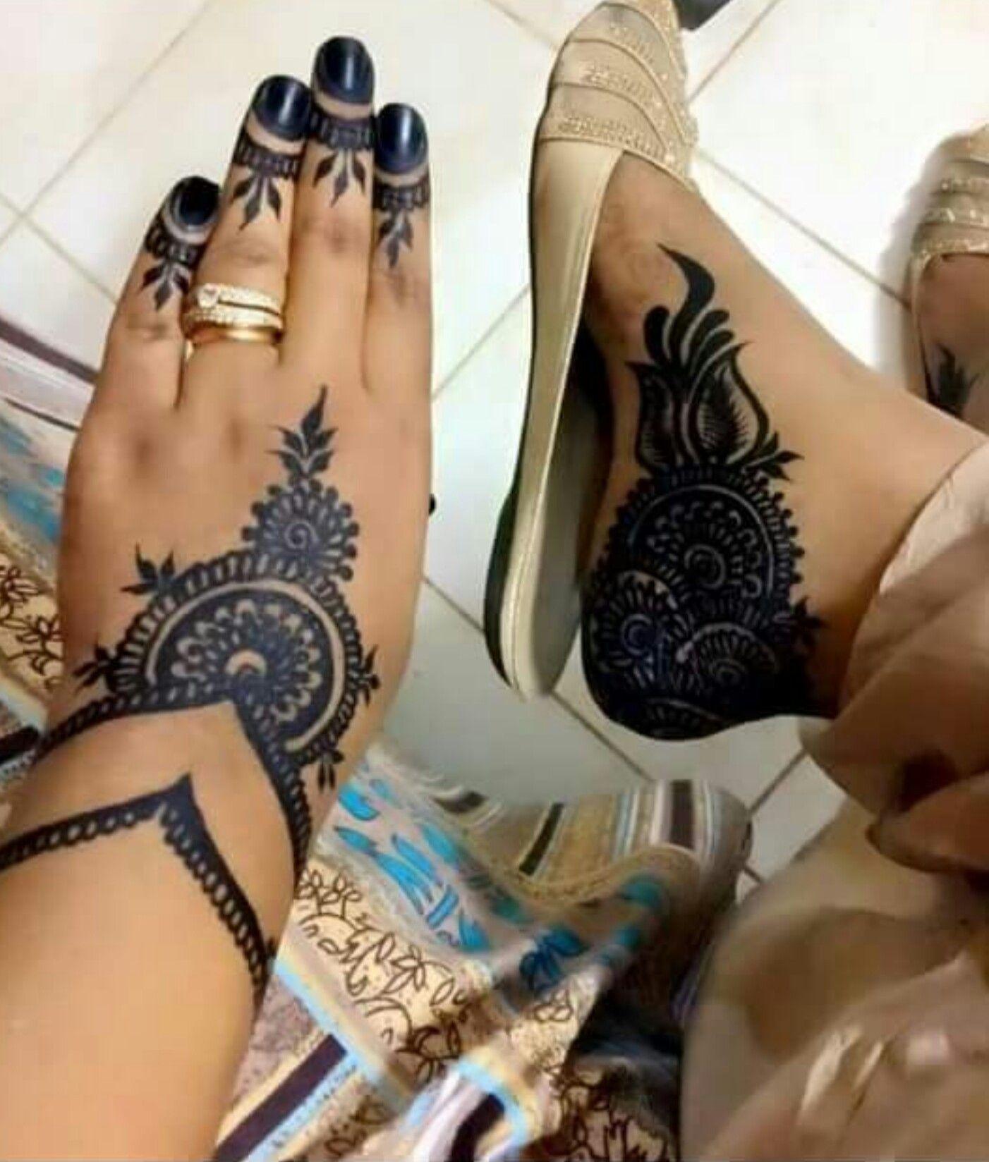 حنة سودانية Sudanese Henna Tatouage Henne Henne Pied Henne
