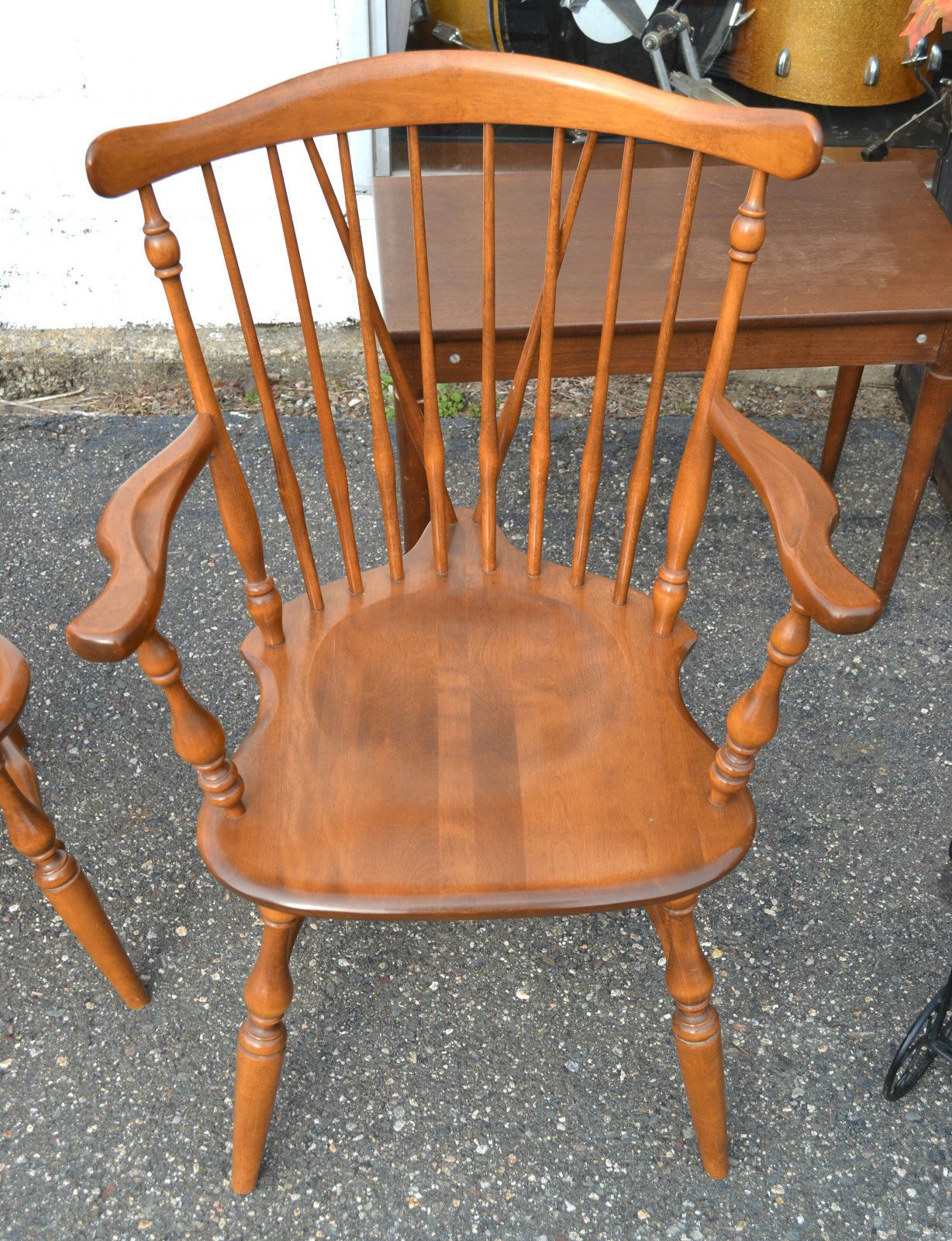 Set Of Four In The Main House. Ethan Allen Early American Birch Maple  Diningroom Style Arm Chair | EBay