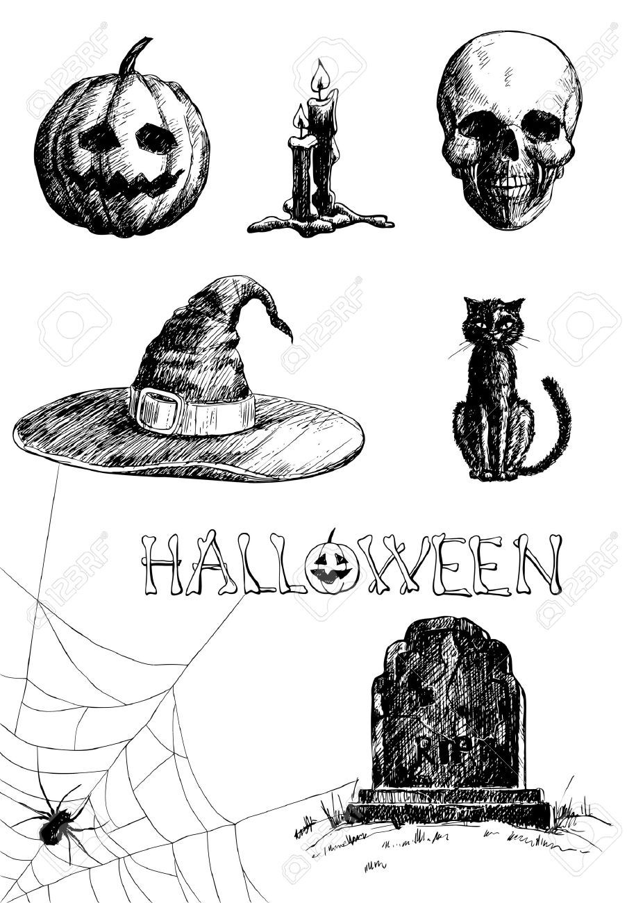 Stock Vector How to draw hands, Witch drawing, Halloween