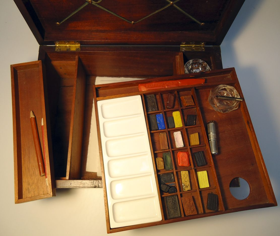 Robertson writing and watercolor paint box Painted boxes