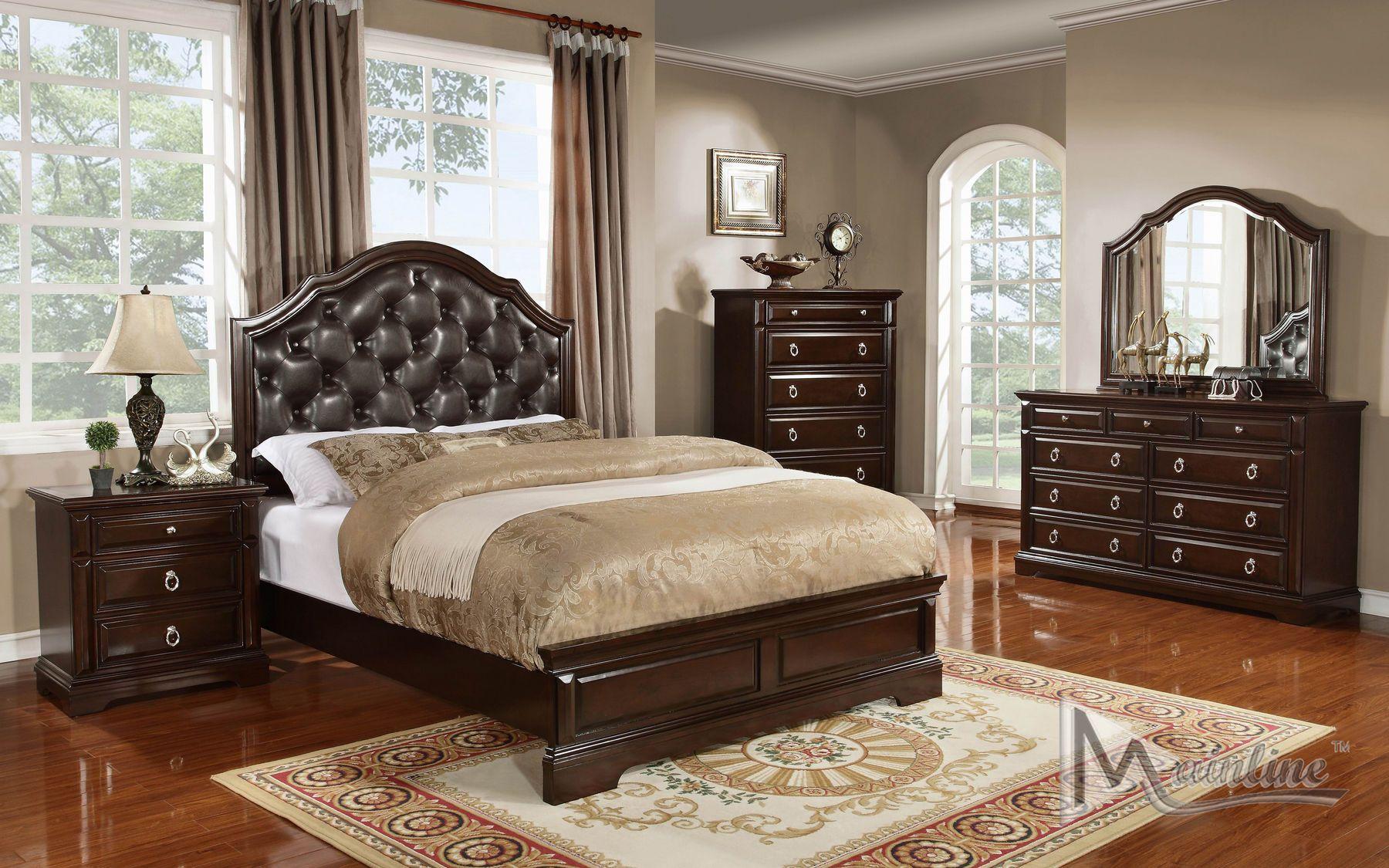 Mainline Inc Portofino Transitional Style Bedroom Set In ...