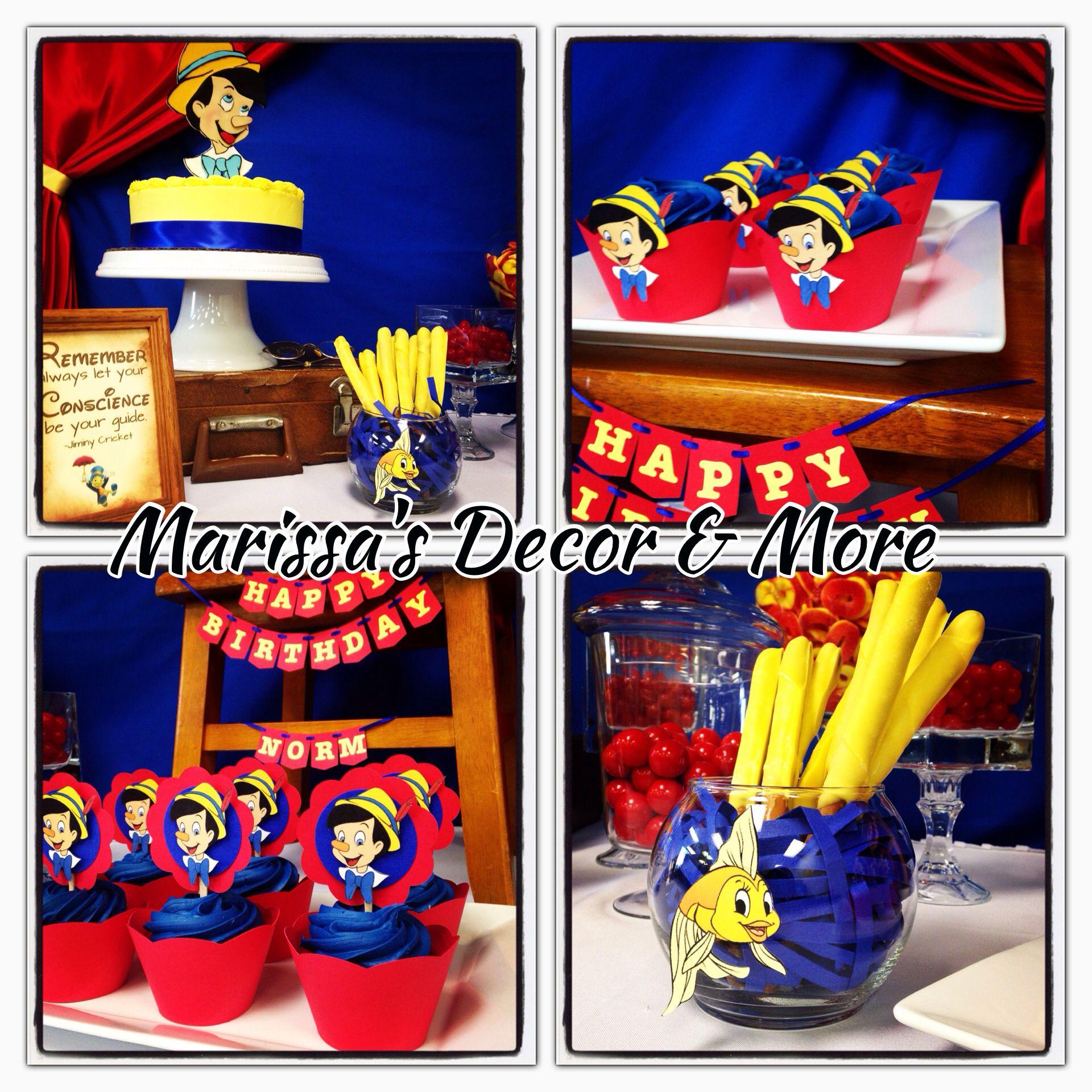 Pinocchio Party Centrotavola Disney Compleanno Festa